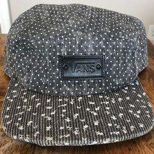 Women's VANS gray denim 5 panel adjustable hat